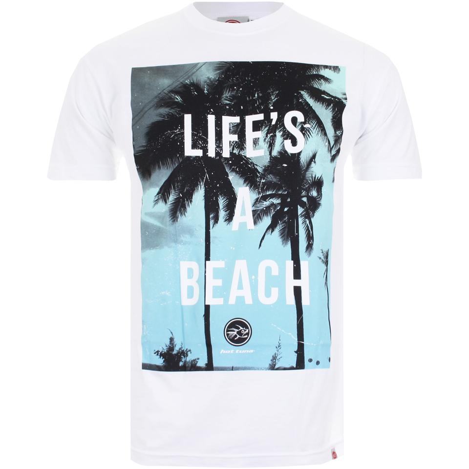 c150406808a0 Hot Tuna Men's Life's A Beach T-Shirt - White | Pop In A Box UK