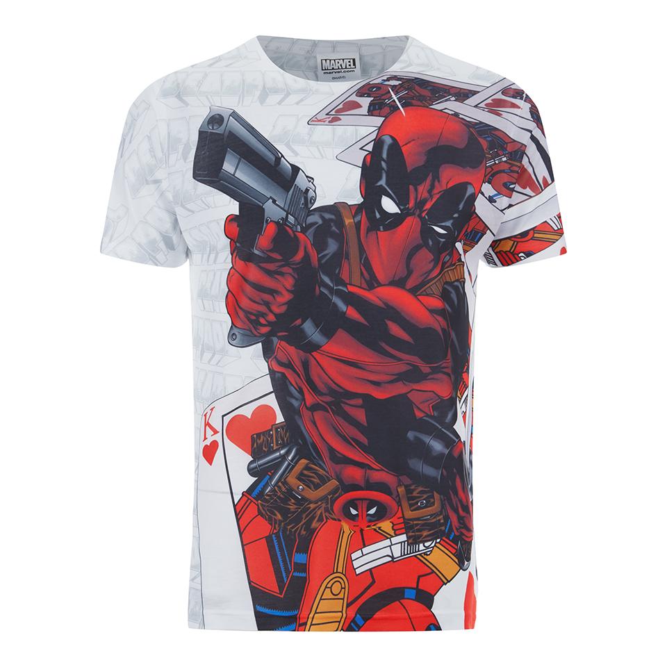 T-Shirt Marvel Deadpool -Blanc