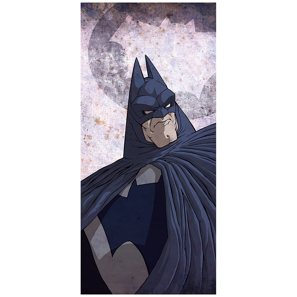 "Knight Detective Batman Inspired Fine Art Print - 16.5"" x 9.7"""
