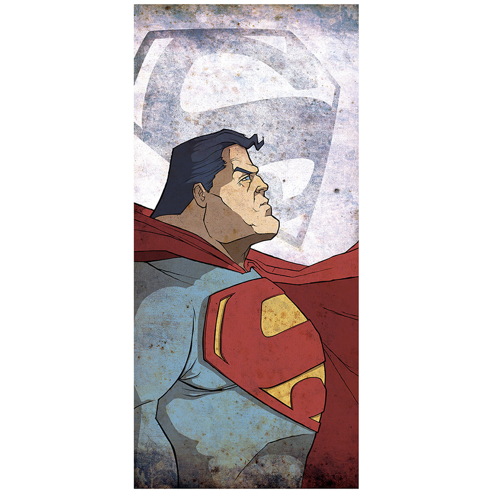 "Kal-El Superman Inspired Fine Art Print - 16.5"" x 9.7"""