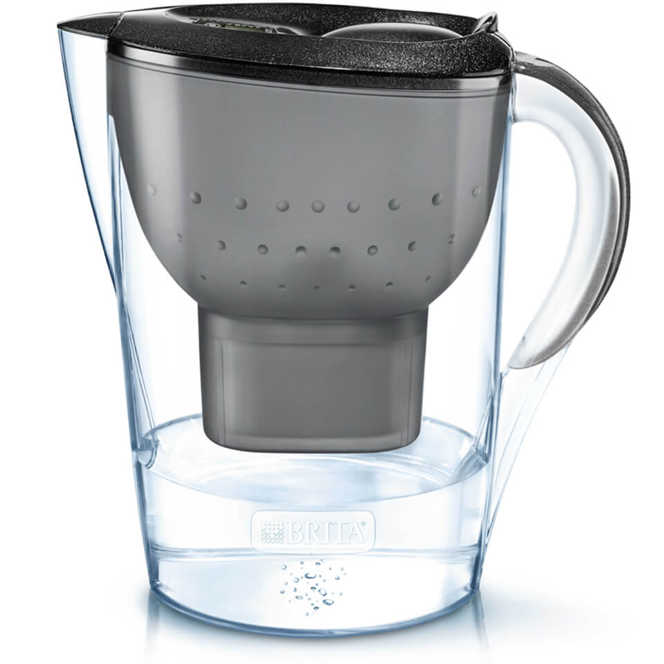 BRITA Marella Cool Water Filter Jug - Black Glitter (2.4L