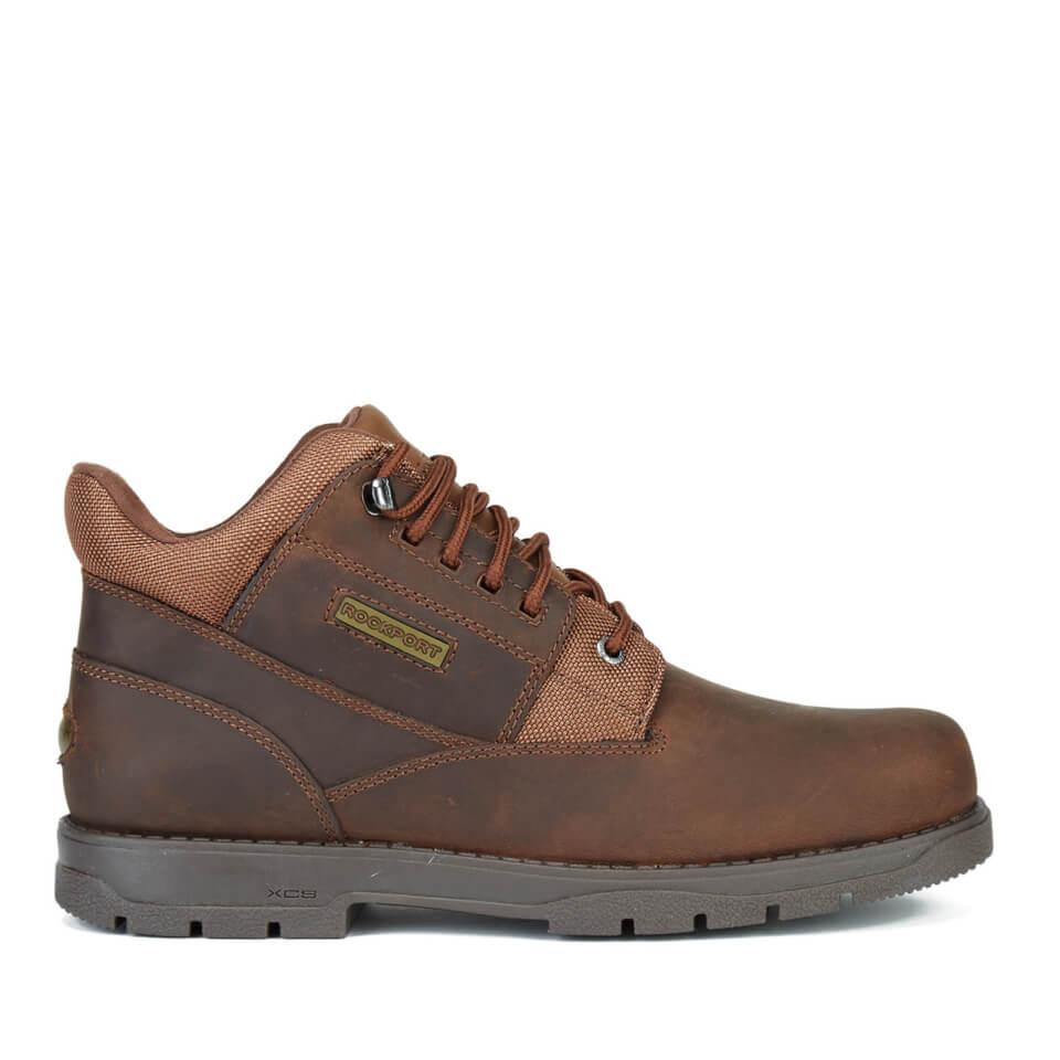 Rockport Men S Treeline Hike Plain Toe Boots Boston Tan