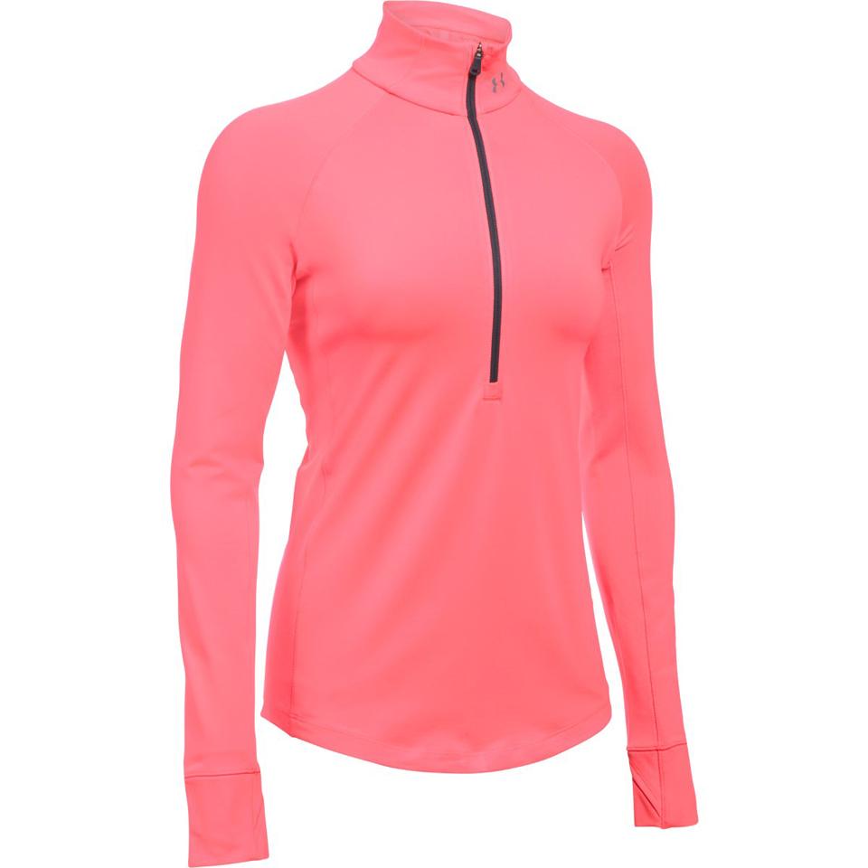 8cdb1acaa4 Under Armour Women's ColdGear Armour 1/2 Zip Long Sleeve Shirt - Brilliance  Pink