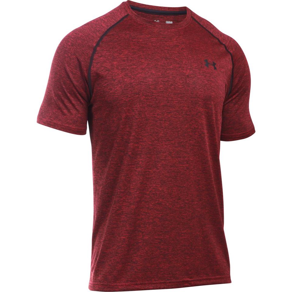 e3161353df Under Armour Men's Tech Short Sleeve T-Shirt - Red/Black