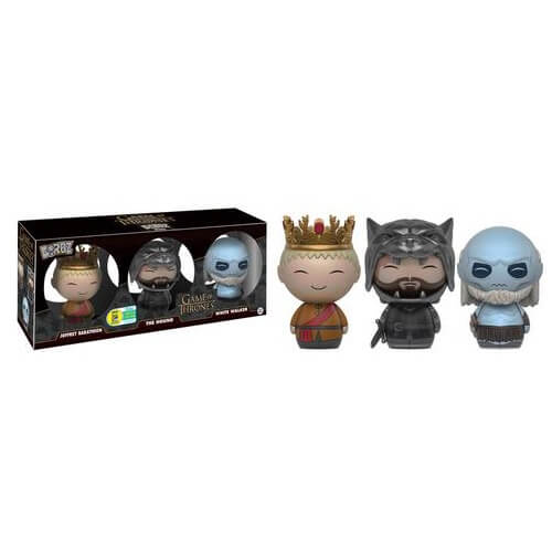 Game of Thrones 3-pack White Walker, Hound & Joffrey Dorbz Vinyl Figure SDCC 2016 Exclusive