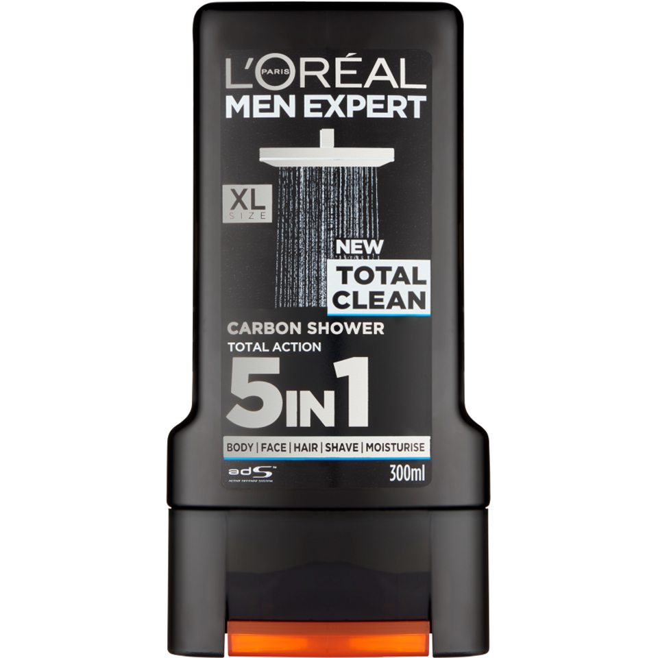 Loral Paris Men Expert Total Clean Shower Gel 300ml Beautyexpert Loreal White Foam