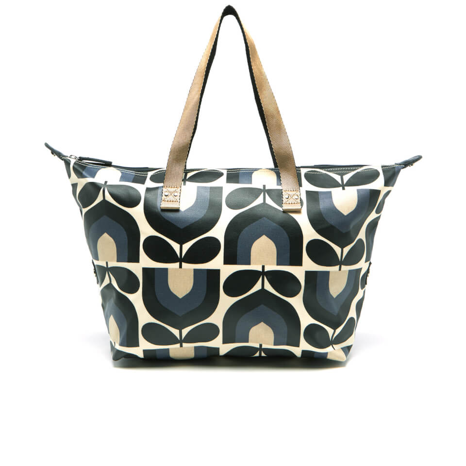 Orla Kiely Women\'s Matt Laminated Stripe Tulip Print Zip Shopper Bag ...