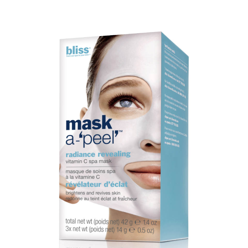 d7404498a38 bliss Mask a- Peel  Radiance Revealing Rubberising Mask