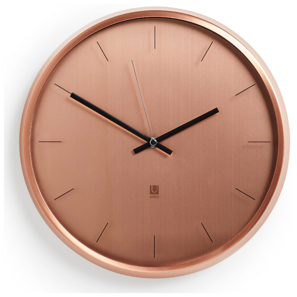 Umbra Meta Wall Clock Copper Free Uk Delivery Available