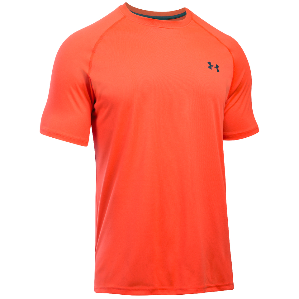 Under armour men 39 s tech short sleeve t shirt bolt orange for Under armour shirts canada