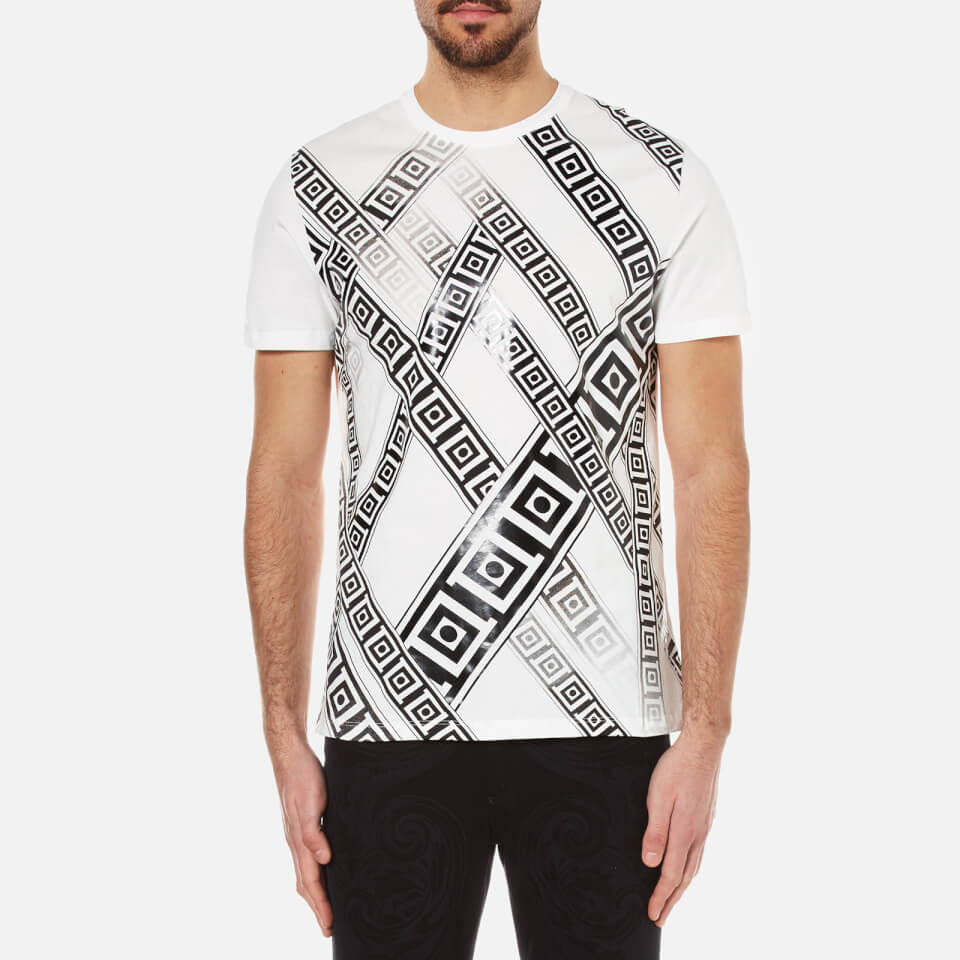 Versace Collection Men's Greek Patterned Embossed T-Shirt ...