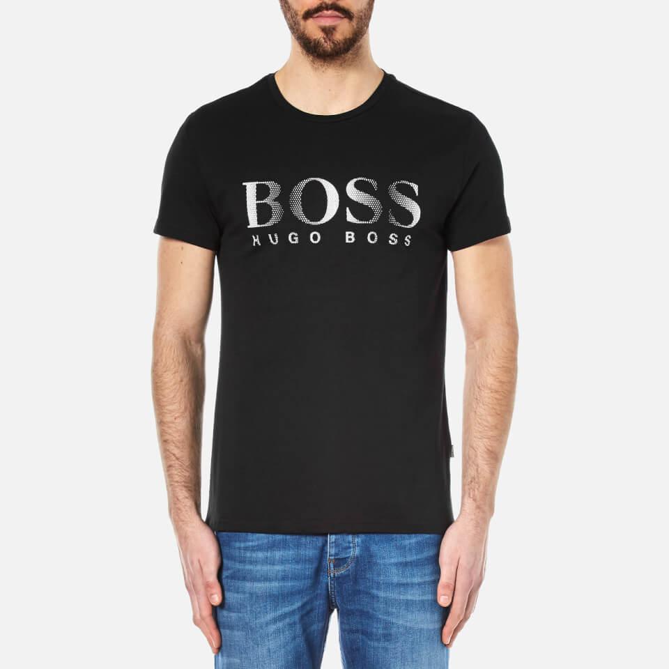 boss hugo boss men 39 s large logo t shirt black clothing. Black Bedroom Furniture Sets. Home Design Ideas