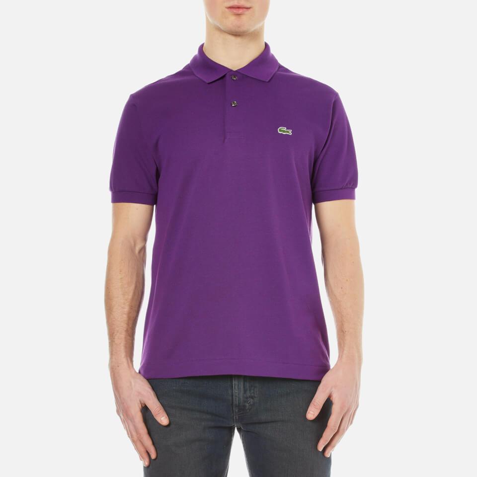 Lacoste men 39 s short sleeve pique polo shirt cossak for Short sleeve lacoste shirt