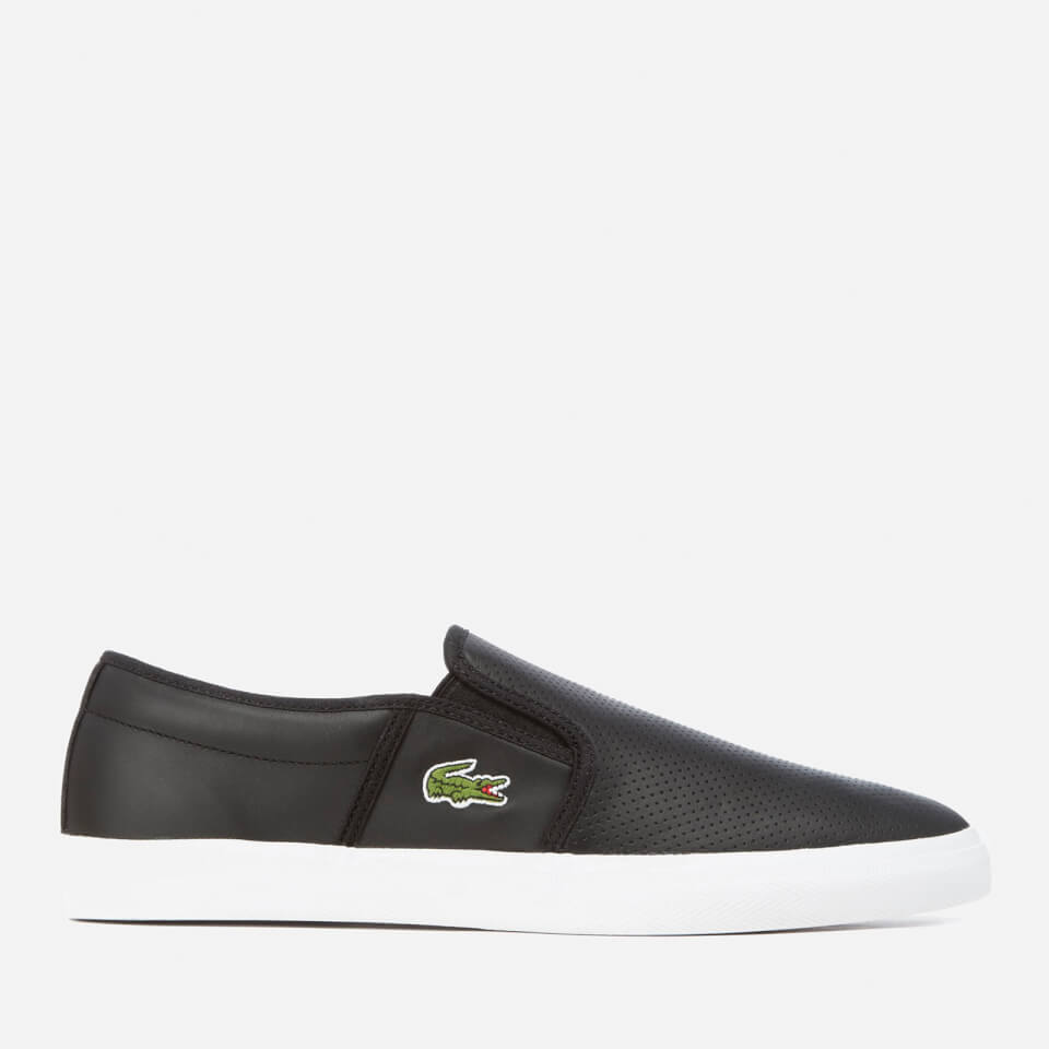 249d6dfdf6 Lacoste Men s Gazon Bl 1 Leather Slip-On Trainers - Black