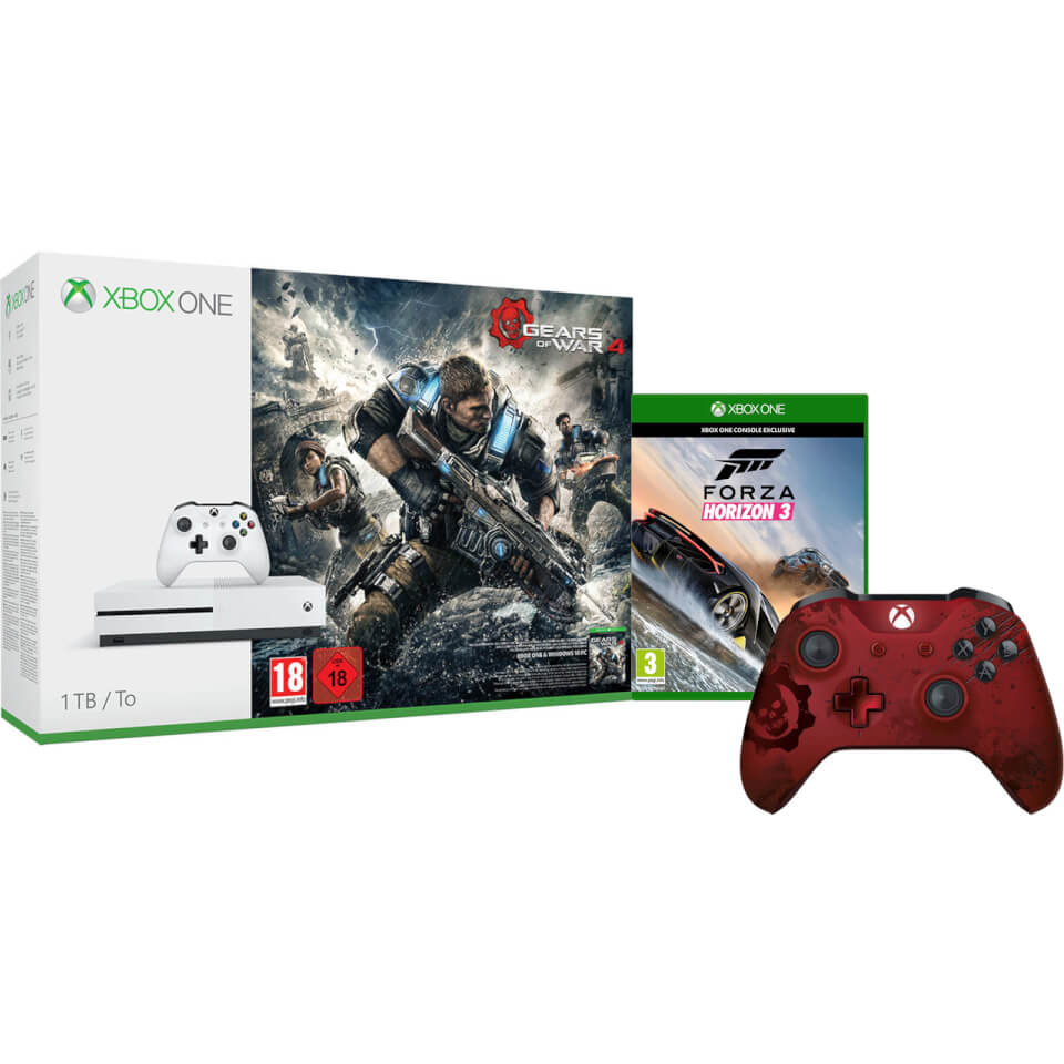 xbox one s 1tb console includes gears of war 4 forza. Black Bedroom Furniture Sets. Home Design Ideas