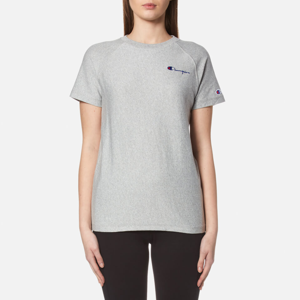 Champion Women S Crew Neck T Shirt Grey Womens Clothing
