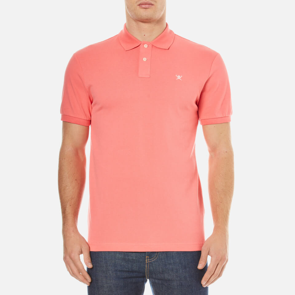 Hackett london men 39 s core polo shirt bright coral for Coral shirts for guys