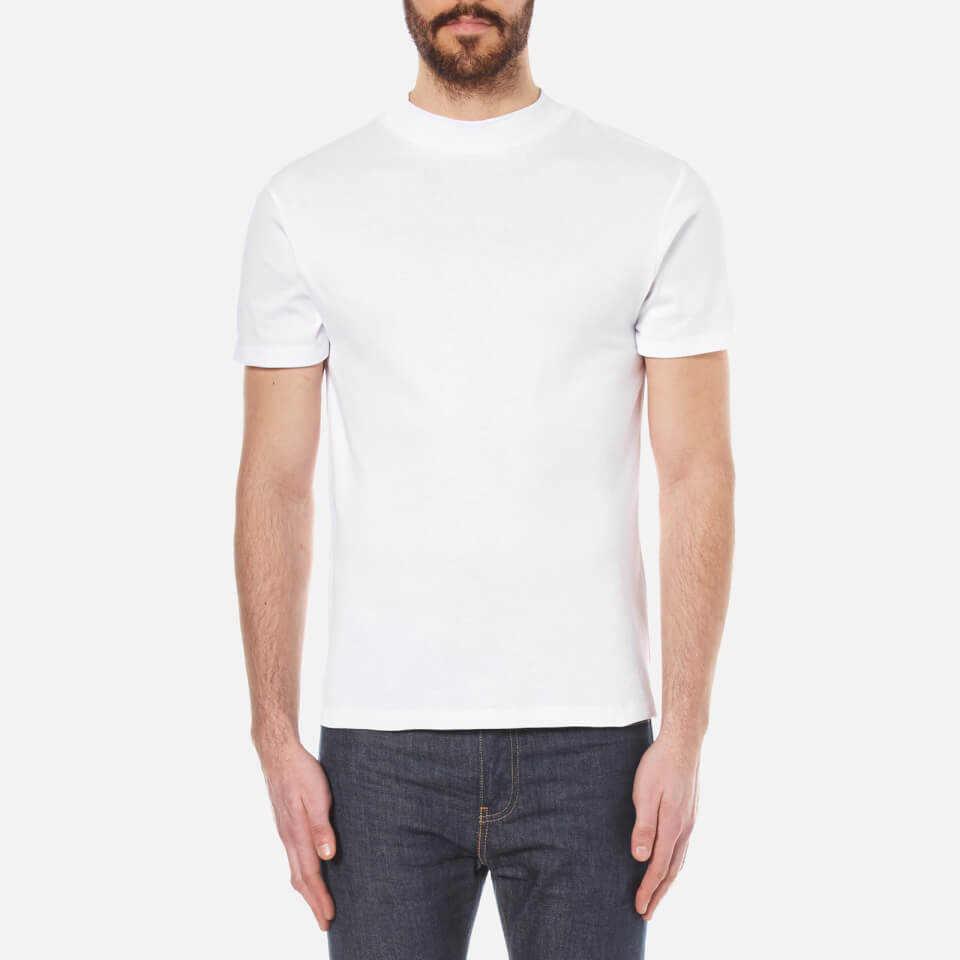 Selected Homme Men S High Neck T Shirt Bright White