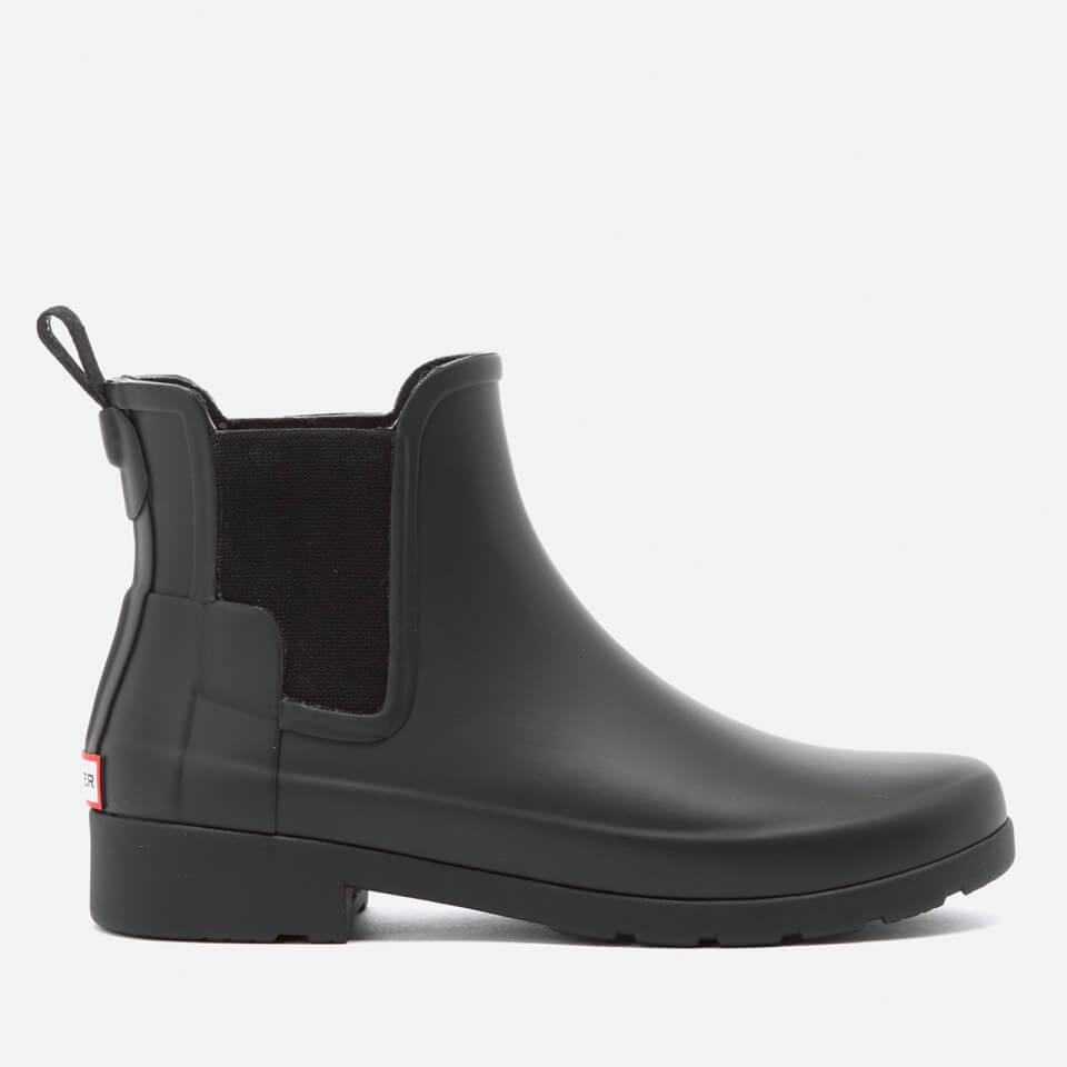 hunter women 39 s original refined chelsea boots black damenschuhe. Black Bedroom Furniture Sets. Home Design Ideas