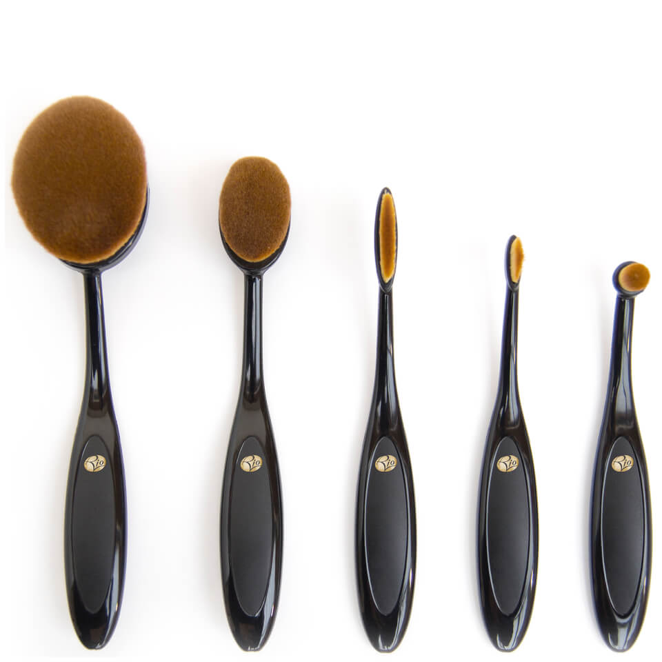 Rio Essential Microfibre Profession Oval Cosmetic Brush Collection by Rio