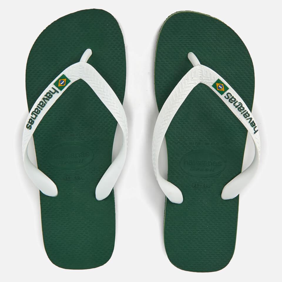 cdf4bc13e Havaianas Brasil Logo Flip Flops - Amazonia Mens Footwear