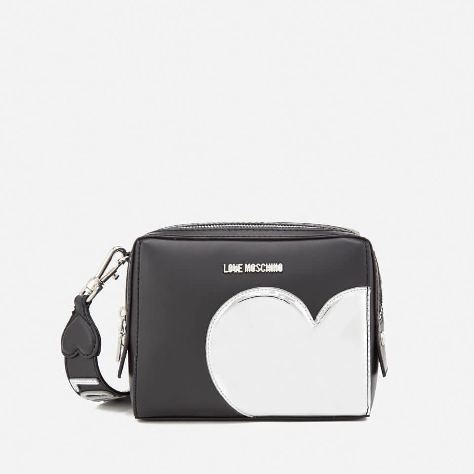 34f47ecae1782 Love Moschino Women s Mirror Heart Camera Bag - Black