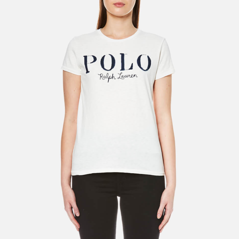 polo ralph lauren women 39 s polo logo t shirt nevis free. Black Bedroom Furniture Sets. Home Design Ideas