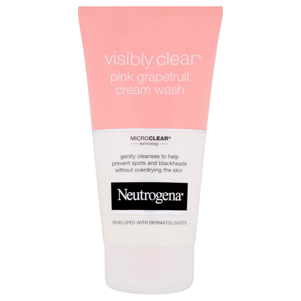 neutrogena visibly clear pink grapefruit cream wash 150ml free shipping lookfantastic. Black Bedroom Furniture Sets. Home Design Ideas