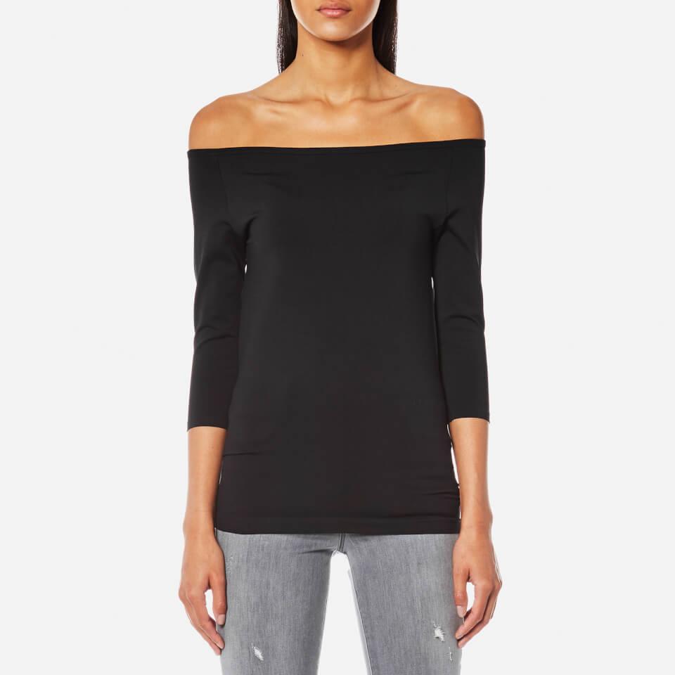 2dae1a1d470 Helmut Lang Women's Off Shoulder Long Sleeve Top - Black - Free UK Delivery  over £50