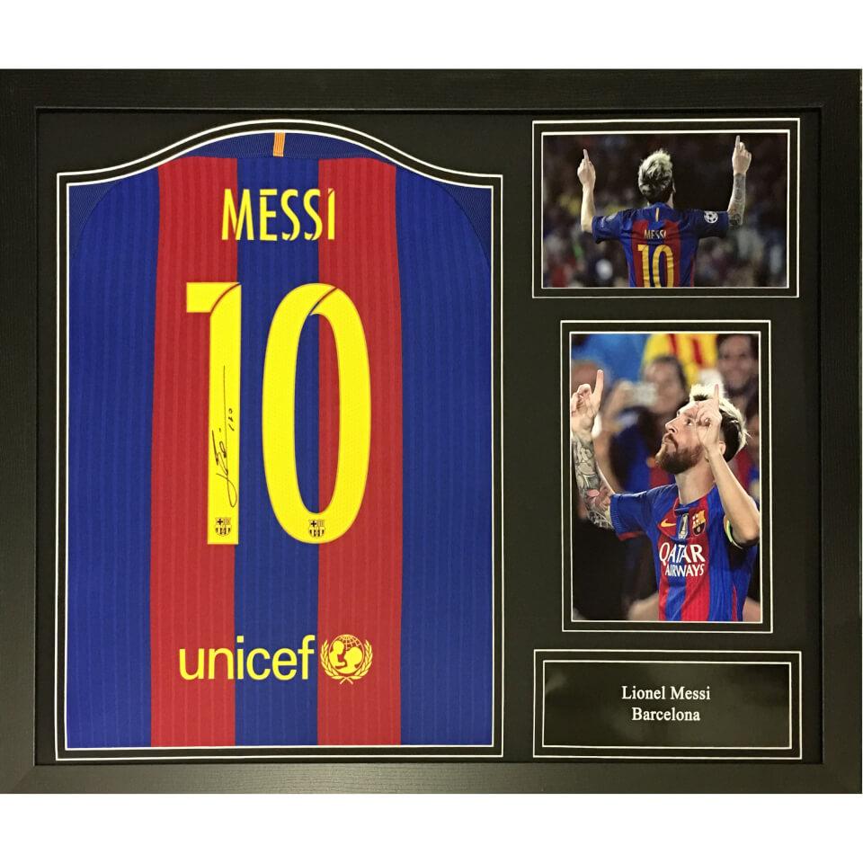 Lionel Messi Signed And Framed Barcelona Shirt Merchandise