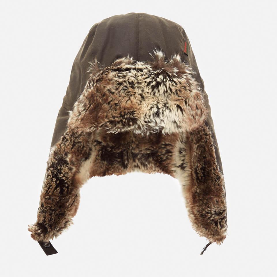 a6c29a33fd0 Barbour Men s Hardwick Fur Trapper Hat - Olive Mens Accessories ...