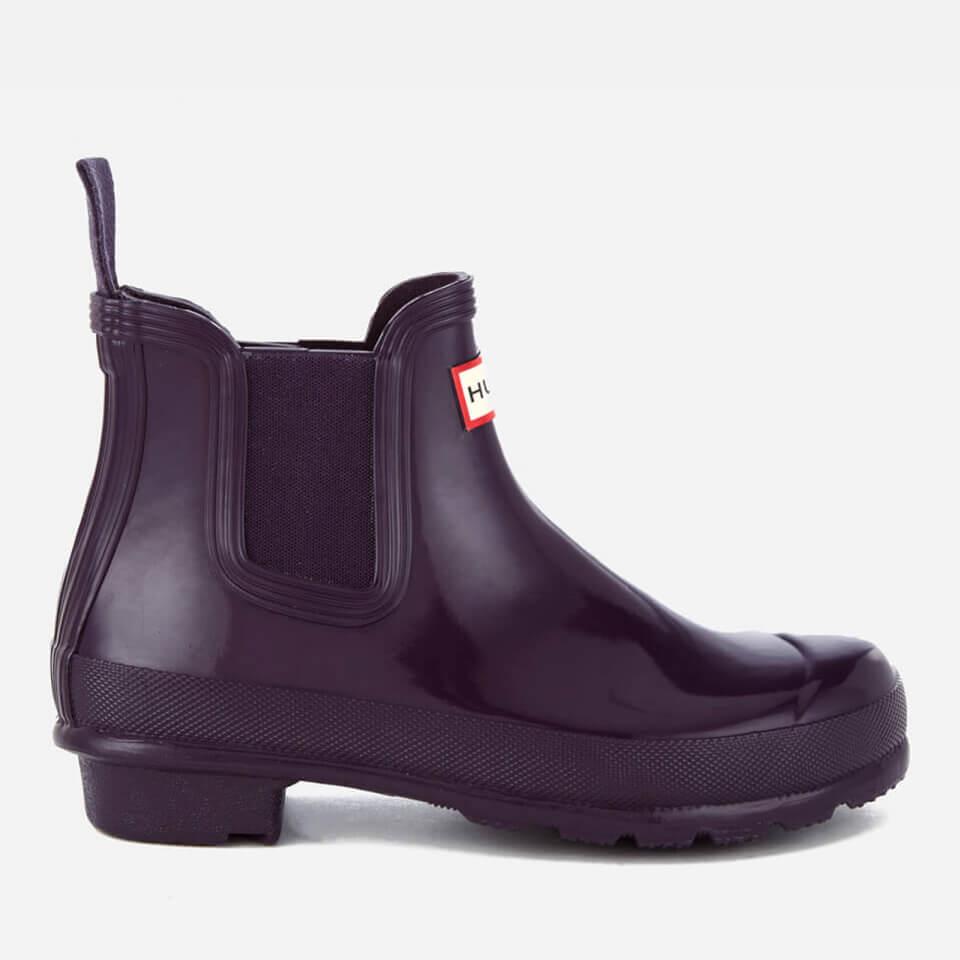 91689c99470 Hunter Women's Original Gloss Chelsea Boots - Purple Ocean