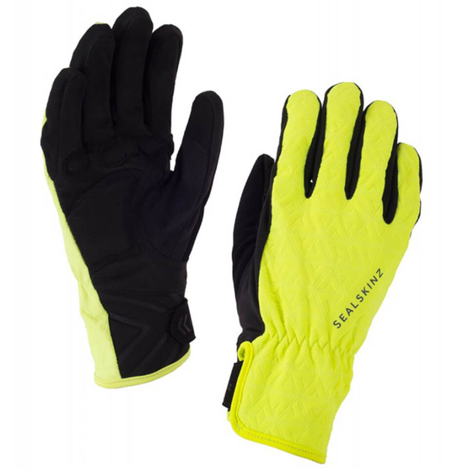 Sealskinz Women's All Weather Cycle Gloves - Black/Yellow | Gloves
