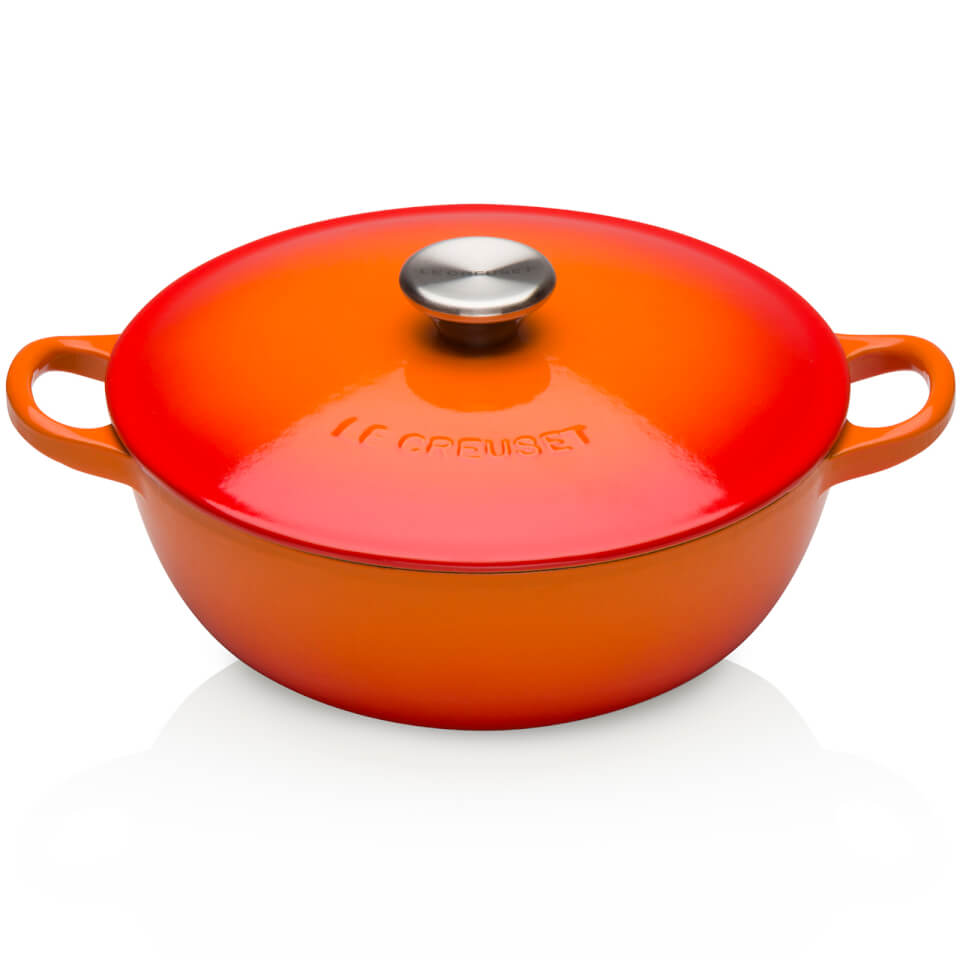 Le Creuset Cast Iron Bouillabaisse Casserole Dish - 22cm - Volcanic Homeware | TheHut.com