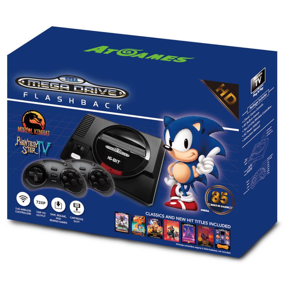 Sega Mega Drive Mini Hd With Wireless Controllers Games