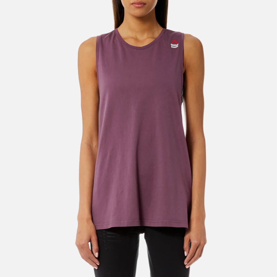 726093a831000a Reebok Women s CrossFit Muscle Tank Top - Washed Plum Womens Clothing