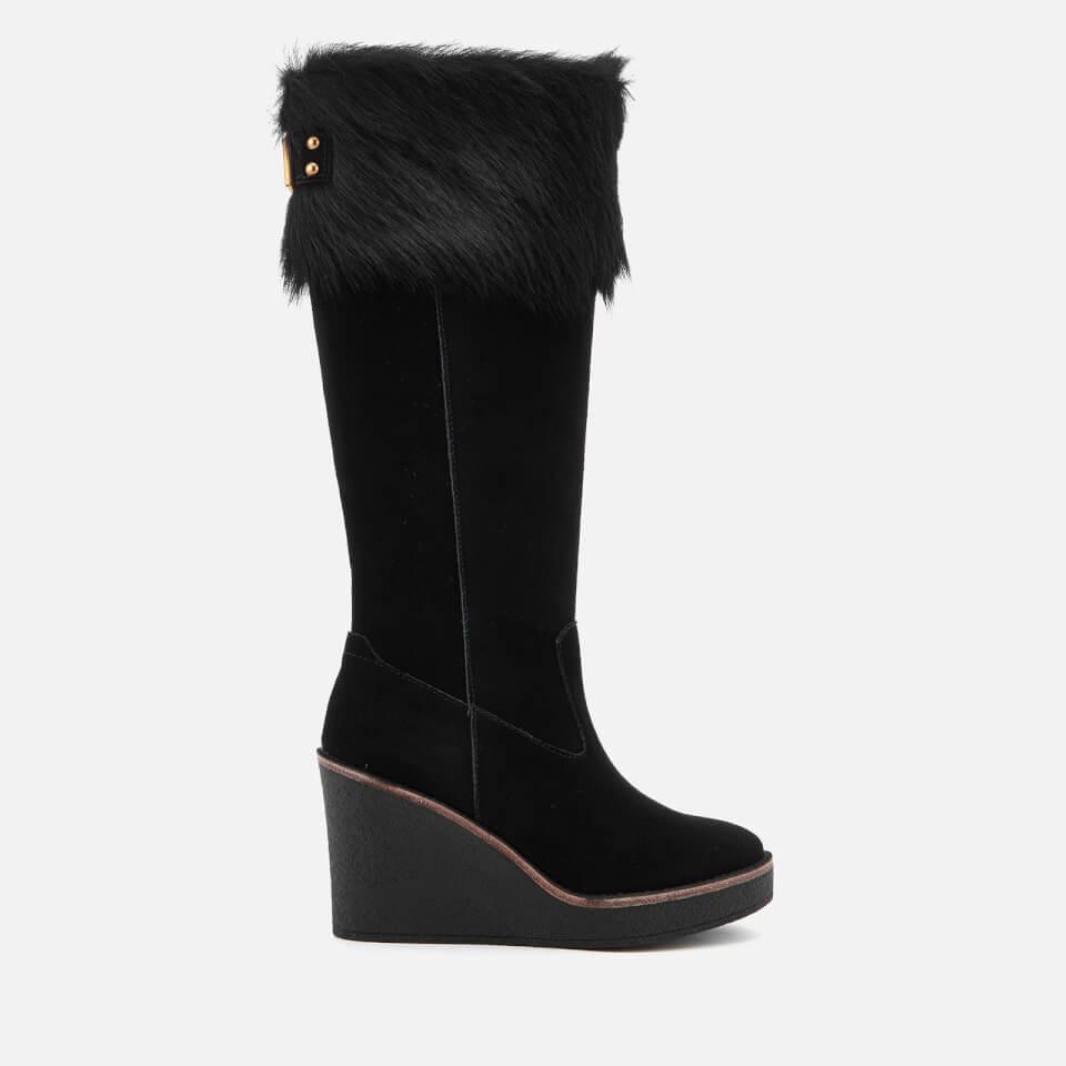 UGG Women's Valberg Sheepskin Cuff Suede Thigh High Boots - - UK 5.5 LFMGc