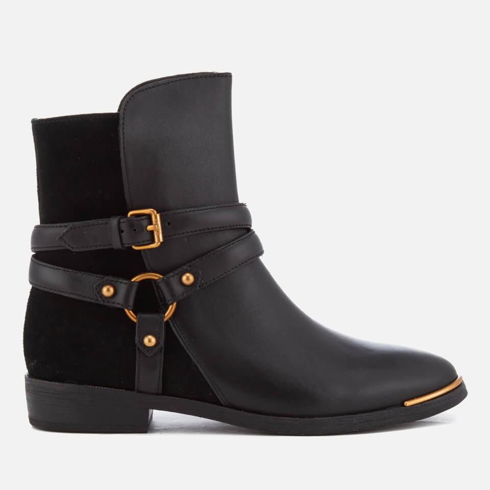 ugg women 39 s kelby leather ankle boots black damenschuhe. Black Bedroom Furniture Sets. Home Design Ideas