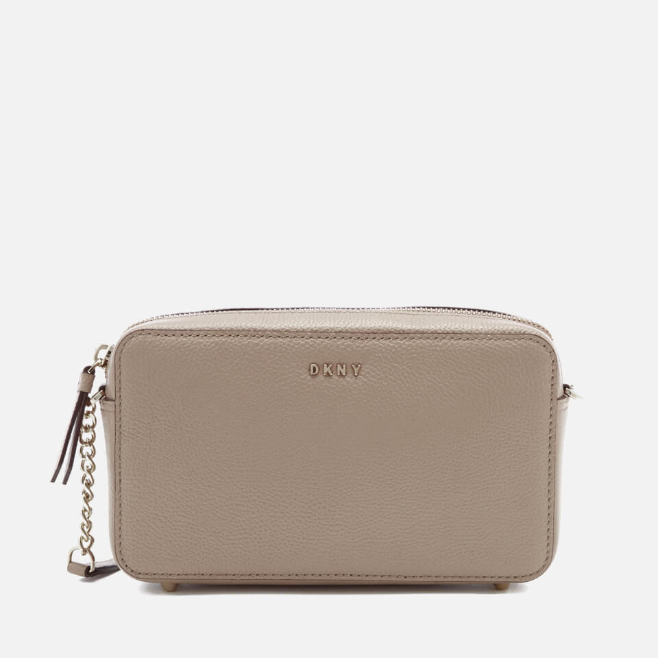 caafb523fa02 DKNY Women s Chelsea Pebbled Small Leather Top Zip Cross Body Bag - Buff -  Free UK Delivery over £50