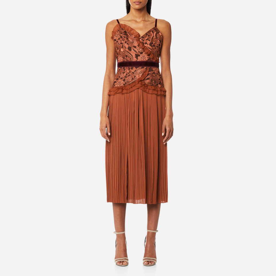 Three Floor Women S Klick Dress Bombay Brown Tawny Port
