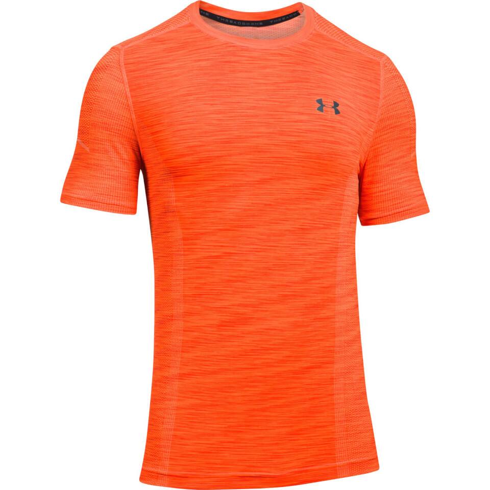 Under Armour Men's Threadborne Seamless T-Shirt - Orange ...