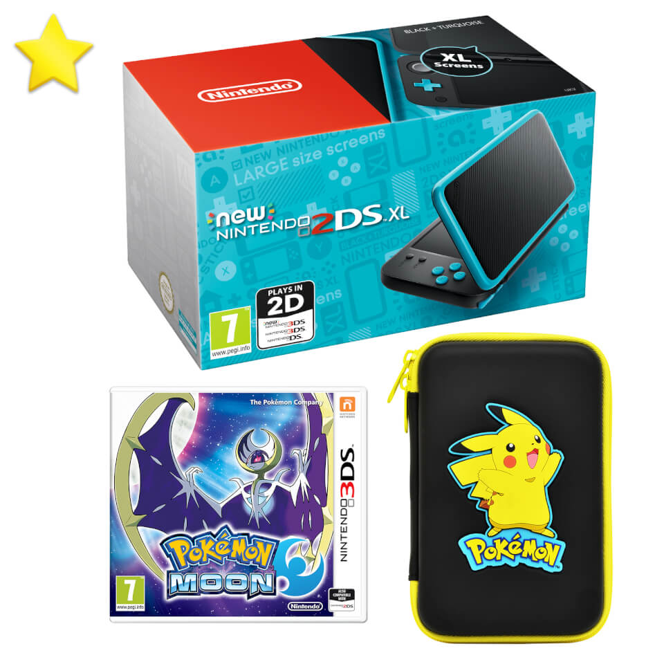 New nintendo 2ds xl pok mon moon pack nintendo uk store for Housse 2ds xl pokemon