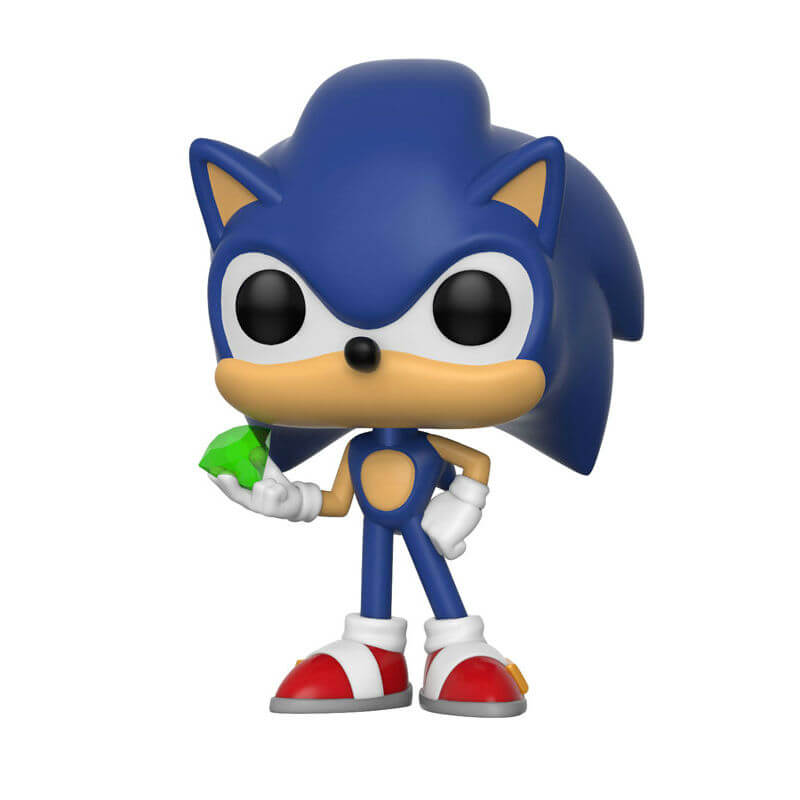 Sonic The Hedgehog Sonic With Emerald Pop Vinyl Figure