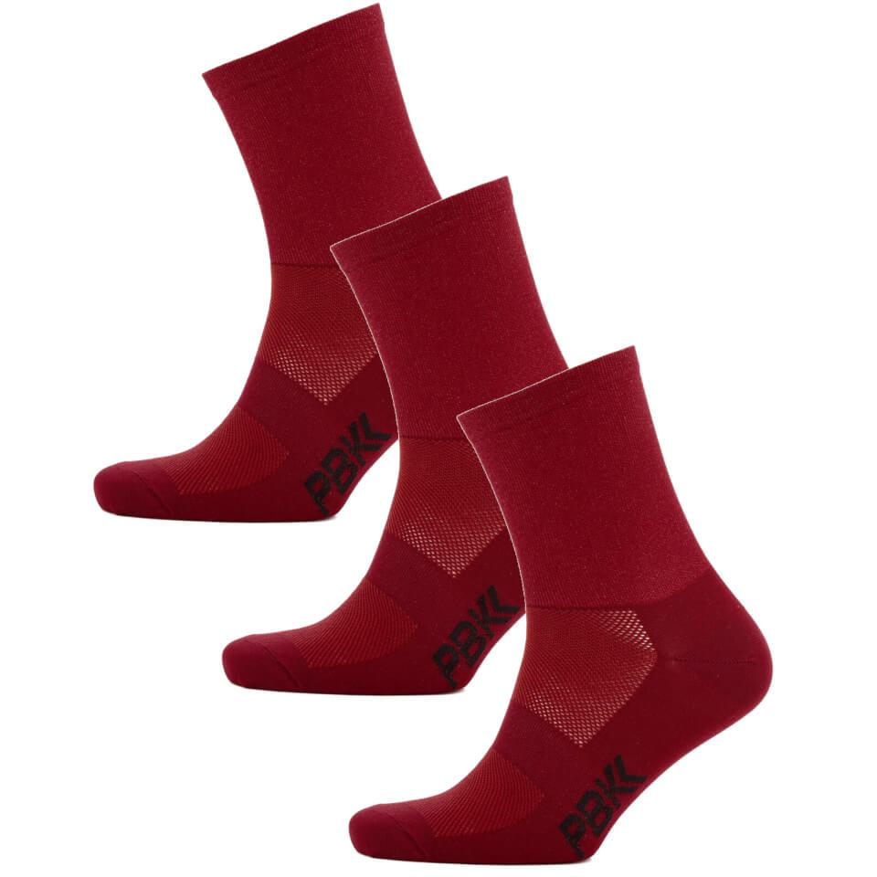 PBK Lightweight Socks Multipack - 3 Pairs - Red | Socks
