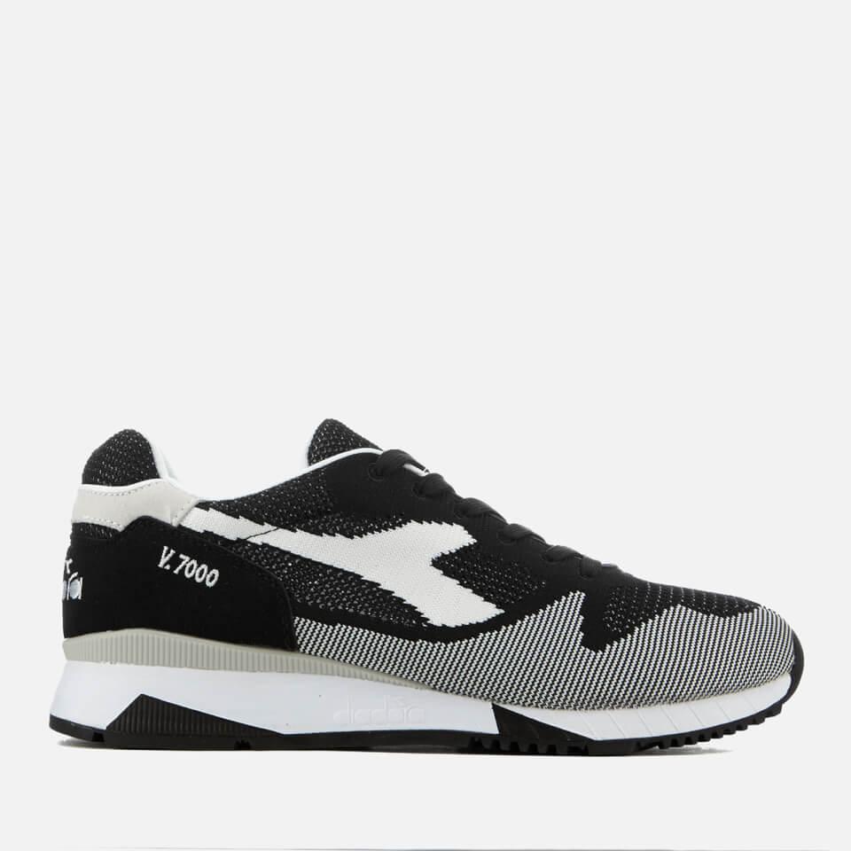 Diadora Men s V7000 Weave Trainers - Black White Mens Footwear ... b2479de9a