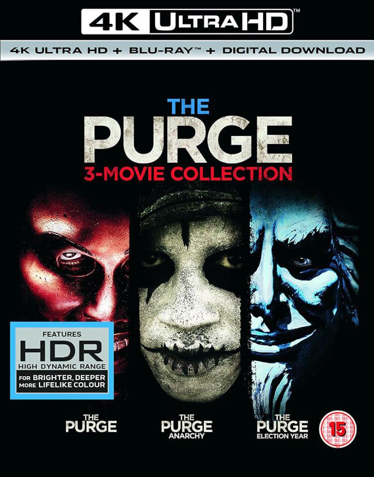 The Purge Trilogy 4k Ultra Hd Blu Ray Zavvi