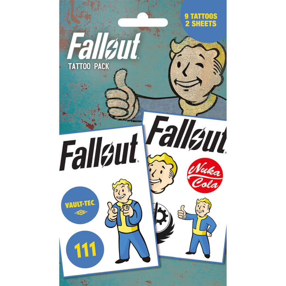 Fallout 4 Mix Temporary Tattoo Pack