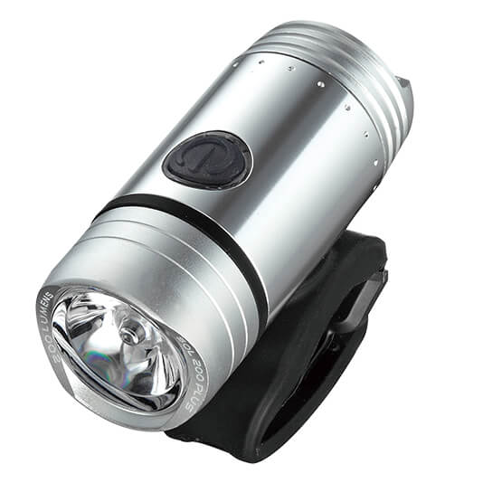 Guee SOL 200 Plus LED Front Light - Silver | Forlygter