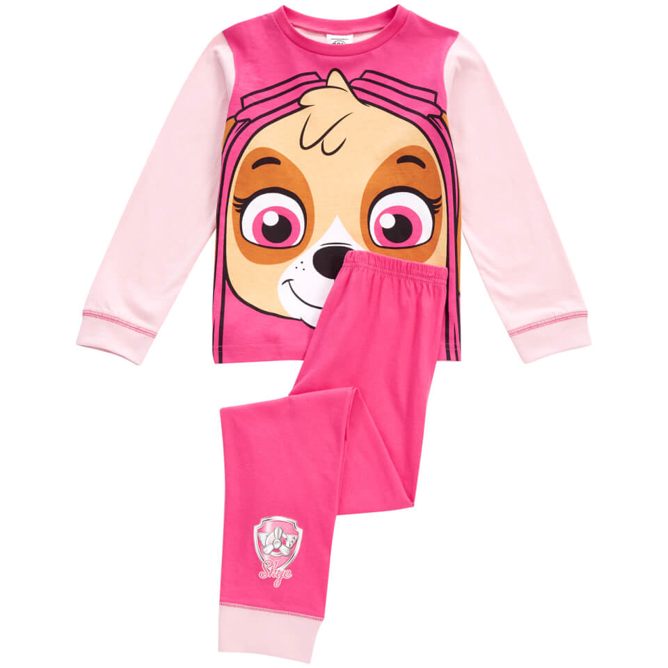 Paw Patrol Girls Skye Novelty Pyjamas Pink Merchandise