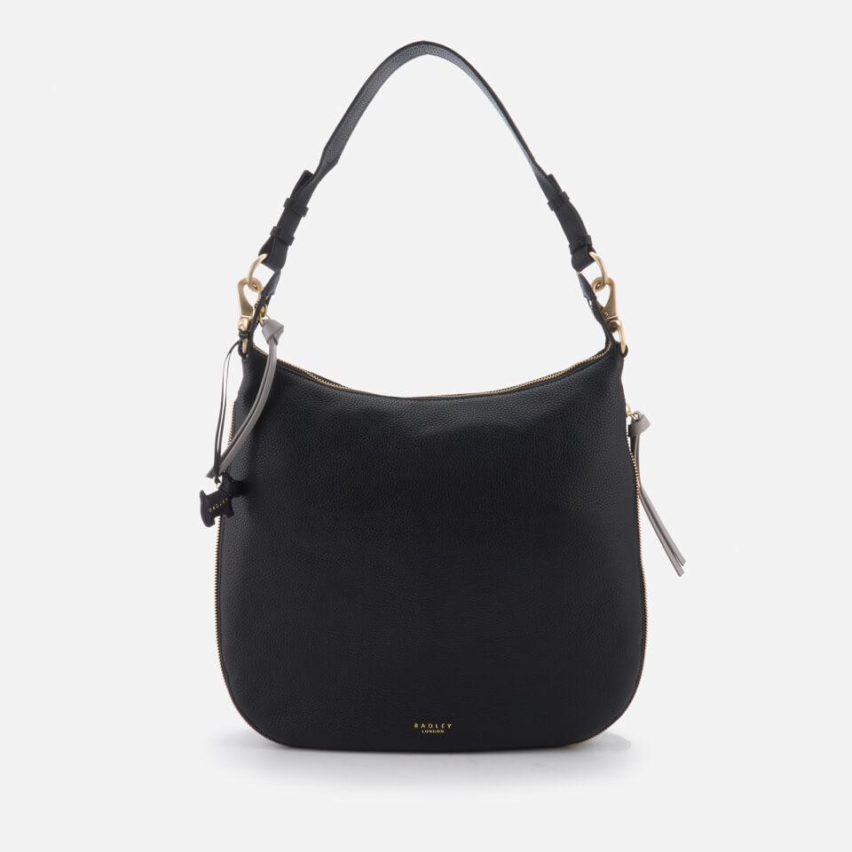Radley Womens Pudding Lane Large Ziptop Hobo Bag Black